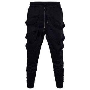 Image 5 - Mode Harembroek Mannen Hip Hop Baggy Cross Techwear Broek Mannelijke Zwarte Trend Lint Streetwear Casual Joggers Broek Man