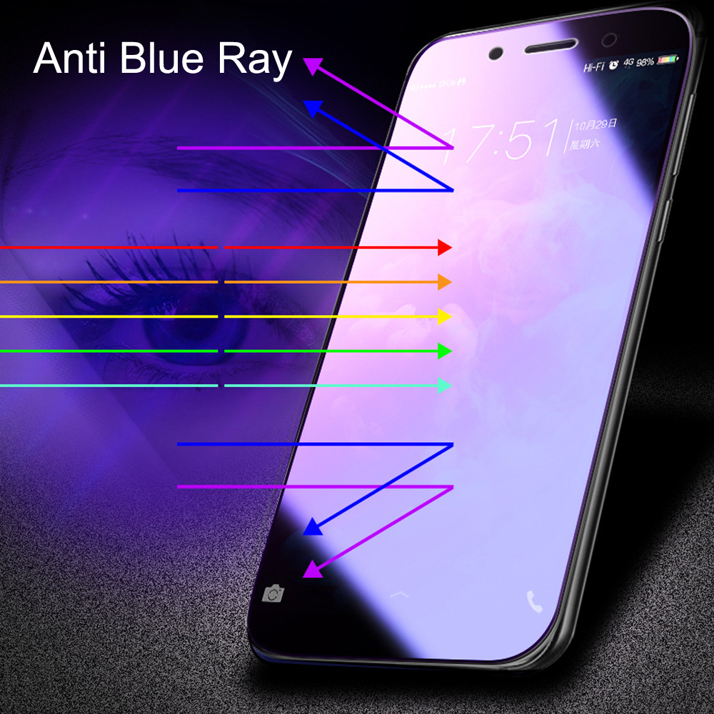 100pcs Glass Protective Film 9D Full Cover Tempered Glass For Vivo Z1 Z3 NEX Screen Protector Anti Blue Ray Glass film in Phone Screen Protectors from Cellphones Telecommunications