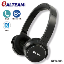 For name receiving and music listening Steel Alloy foldable light-weight bluetooth wi-fi headphones with hid microphone