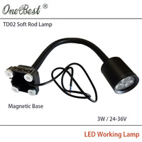 HNTD TD02 6W Aluminum Shell Machine Work Lights LED Soft Light Rod Milling Machine Light LED