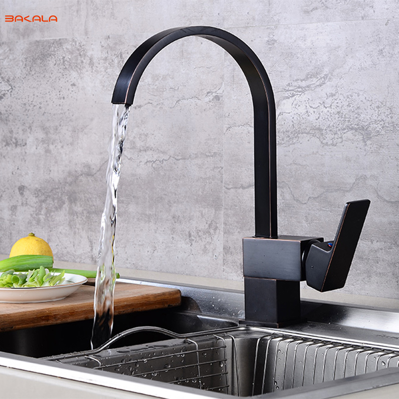 BAKALA Black Kitchen Faucet Drinking Water Cranes Hot Cold Water Mixer Tap Antique ORB Pure Water