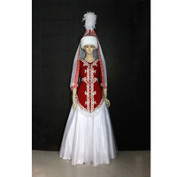 High Quality Customized Kazak Nationality Dance Costume Dress With Headwear Head For Adult Kids,Asian Folk Clothing Drop Ship