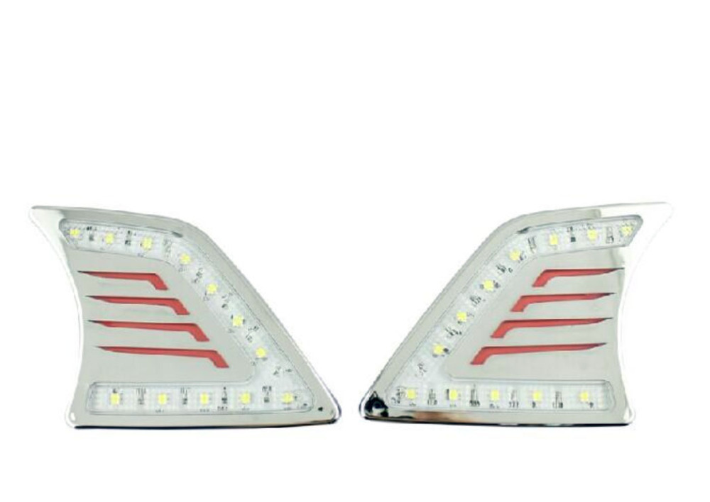 ФОТО 2012-2013 For HILUX VIGO daytime running light Fog lights 2pcs/set+wire 6000~7000K! DRL LED car fog lights