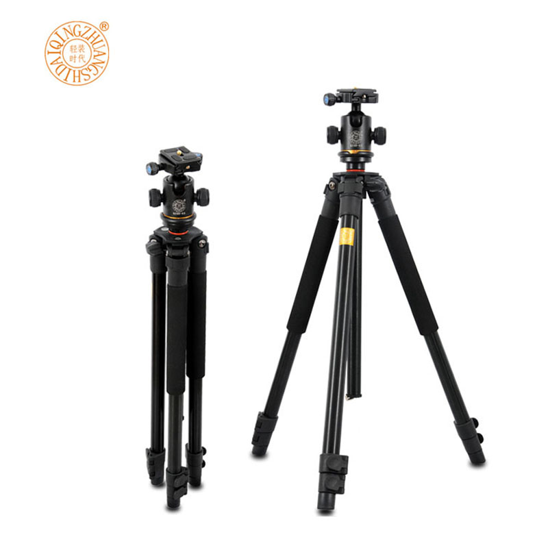 DSLR Camera monopod 1/4 DSLR Tripod QZSD Q360 Portable Detachable Changeable Traveling tripod For Canon Nikon Sony and more dhl free 2017 new professional tripod qzsd q999 aluminium alloy camera video tripod monopod for canon nikon sony dslr cameras