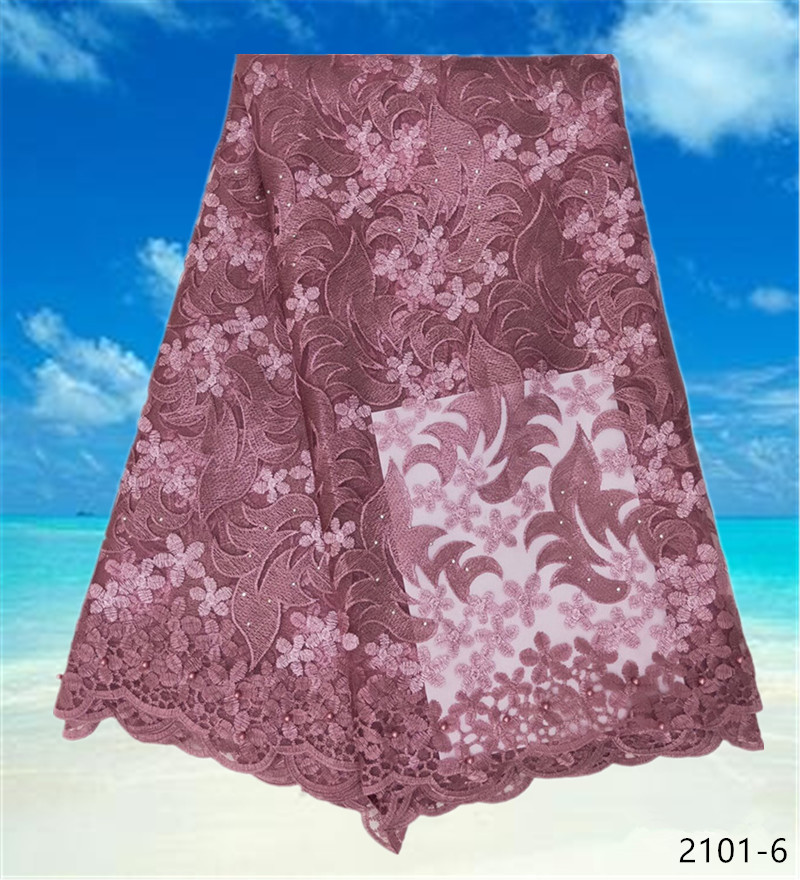 African French Lace Fabric 2019 High Quality African Tulle Lace Fabric For Wedding Rhinestones French Lace Fabric 2101 in Lace from Home Garden