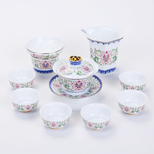 Jingdezhen China Blue And White Porcelain Tea Sets Chinese Kung Fu Cup Saucer Vintage Ceramic Service Teapot Kettle