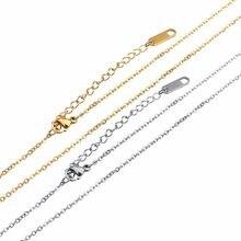 LOULEUR – lot de 5 chaînes en acier inoxydable pour hommes et femmes, 1.5mm de large, pour bricolage, fabrication de bijoux