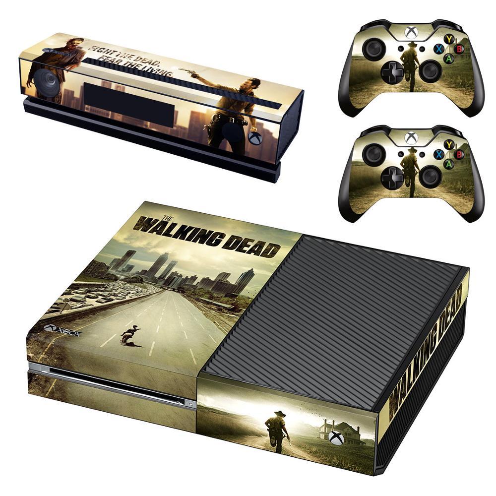 Autocollant vinyle adesivo pegatina pour Console Xbox One & Kinect & deux peaux de contrôleur