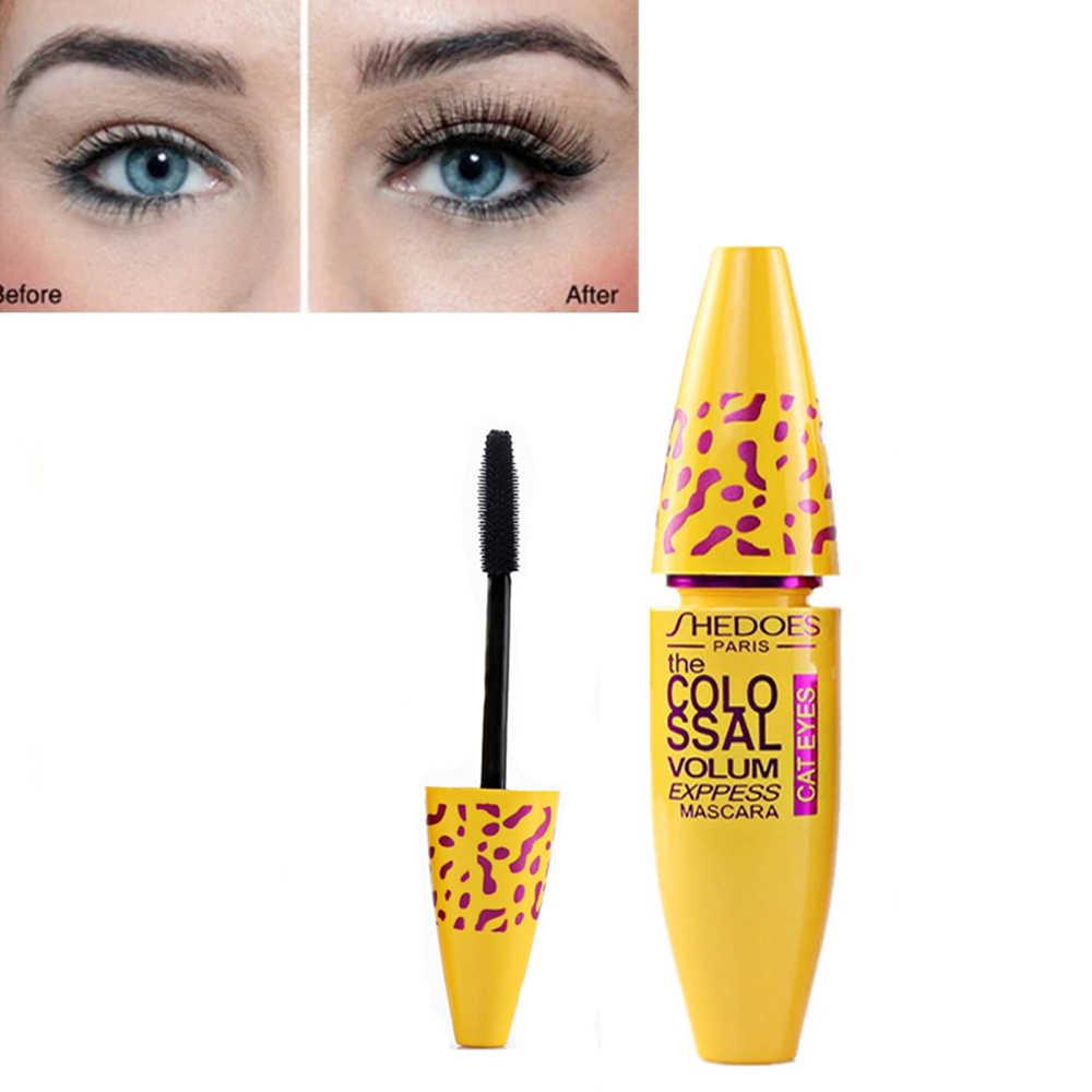 Jaune Tube Mascara 3d Mascara fibre cils épais friser durable imperméable noir concentré yeux Mascara cosmétiques TSLM2