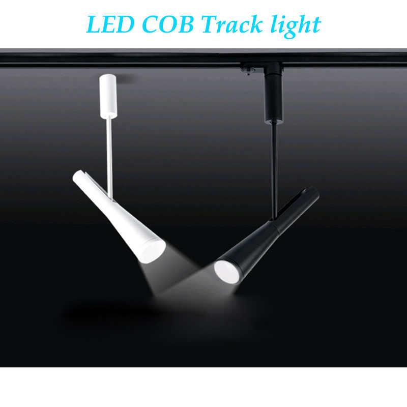 調光 LED COB トラックライト 7 ワット 12 ワットレールウォールライト天井商業服ショップスポットライト用のトラック AC85-265V