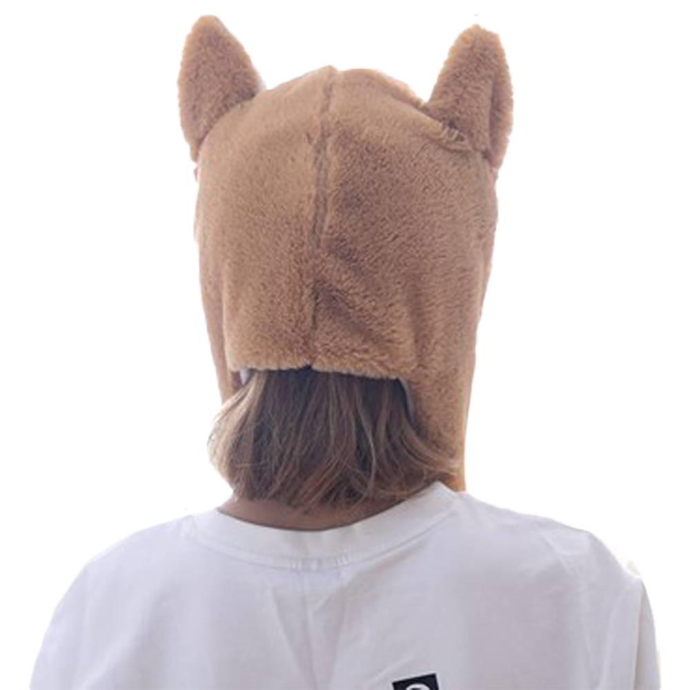 Children Corgi Animal Hat Hood Scarf Corgi Hats Caps Winter Warm Plush Earmuff Beanies Helmet Mittens Hooded For Kids Child Costumes & Accessories