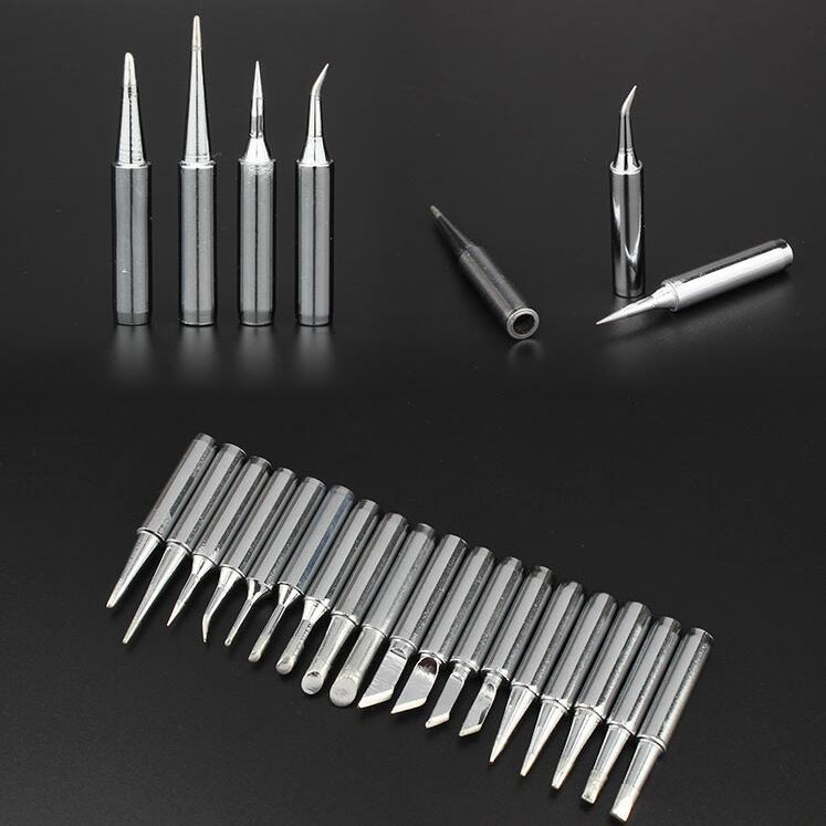 1pcs Eruntop 8586 936 937 900M-T Soldering Iron Tips Silver For Soldering Rework Station