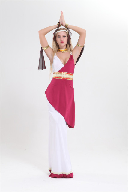 2cbc0bd4399 free shipping Real photo Hot Sale Adult Woman s Imperial Roman Empress Toga Fancy  Dress Costume size