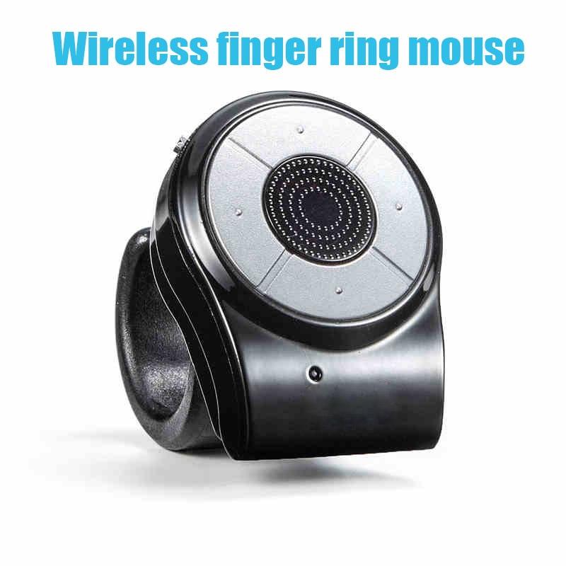 Nouveau 2.4G sans fil mini doigt souris anneau sans fil rechargeable souris pour conférence vocale télécommande windows IOS