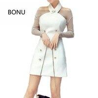 BONU Seksi Halter Kapalı Omuz Elbise Kadın Yeni Pırıltılı Uzun Kollu Dantel Elbiseler Sparkly Fit Parti Mini Elbise Vestidos
