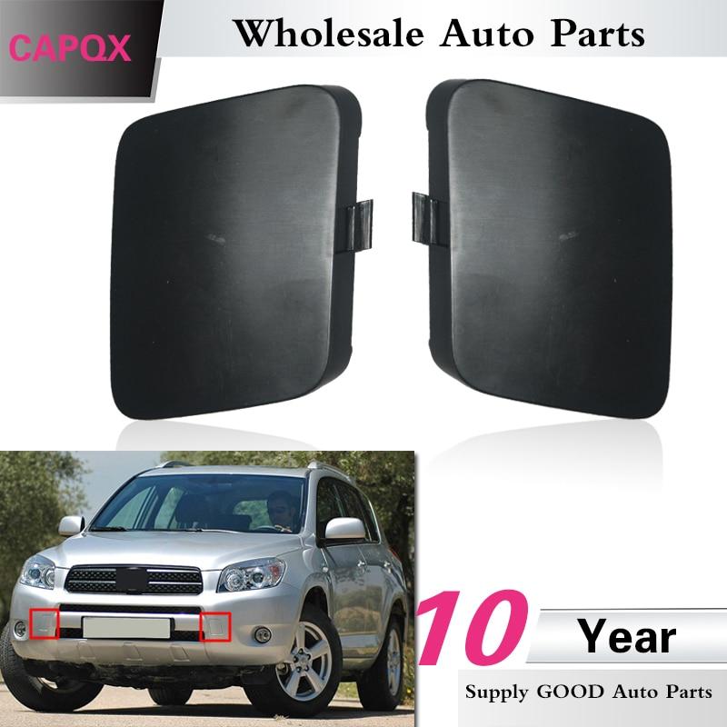 Auto Parts Coupons >> CAPQX 1Pair Original Genuine Front Bumper Tow Bracket Cover cap FOR TOYOTA RAV4 RAV4 ACA33 ACA30 ...