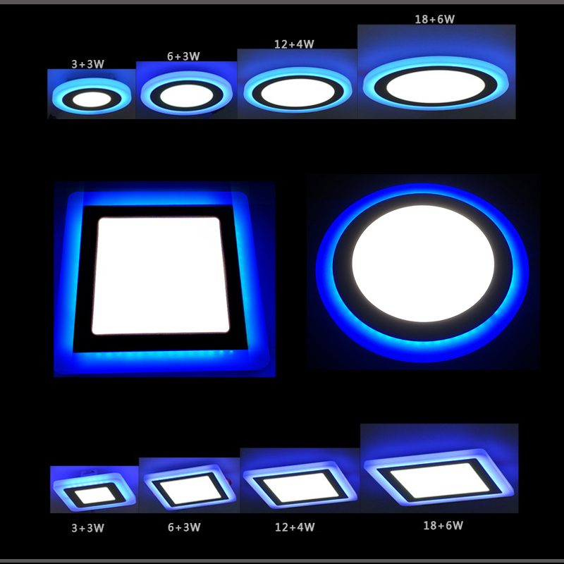 Lâmpadas Led e Tubos ac85-265v recesso painel de teto Shape : Round/square