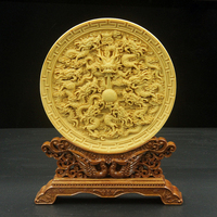 Decoration Of Boxwood Carving Arts And Crafts Home Furnishings Gift Hole Saints Home Furnishings Handmade Artwork