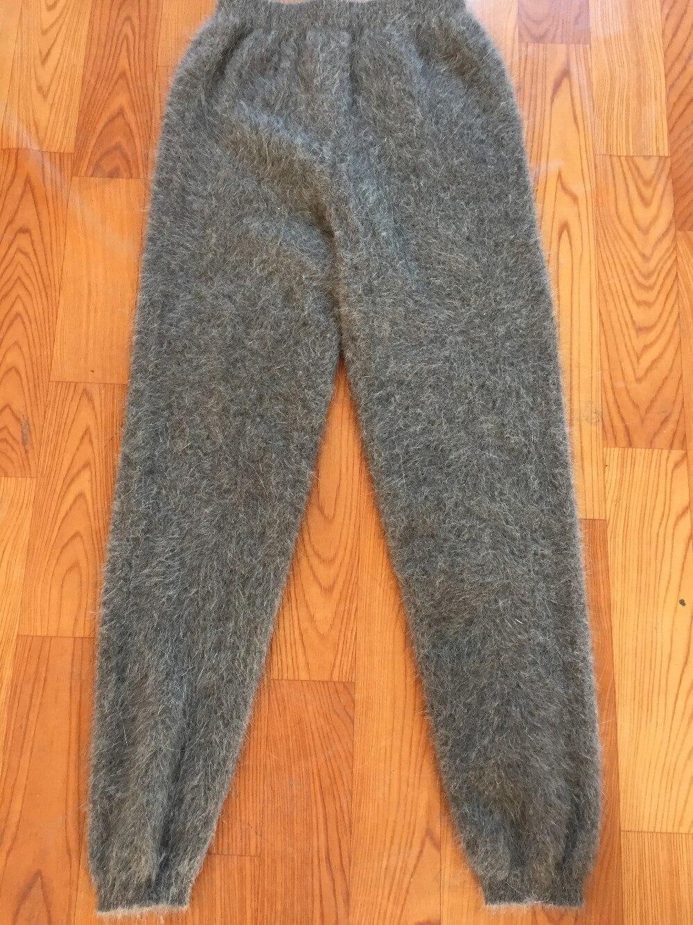 Homem calças grossas calças quentes calças de inverno mink cashmere malha J59