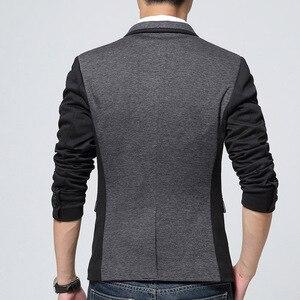 Image 2 - Liseaven Brand Clothing Blazer Men Fashion Coat Slim Male Clothing Casual Solid Color Mens Blazers Plus Size