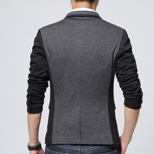 Image 2 - Брендовая одежда Liseaven, блейзер, мужское модное пальто, тонкая мужская одежда, повседневные однотонные мужские блейзеры