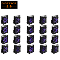 12XLot Plastic Case Led Par Lights 54 3W RGBW Color Mixing Led Par64 Light DMX512 Control