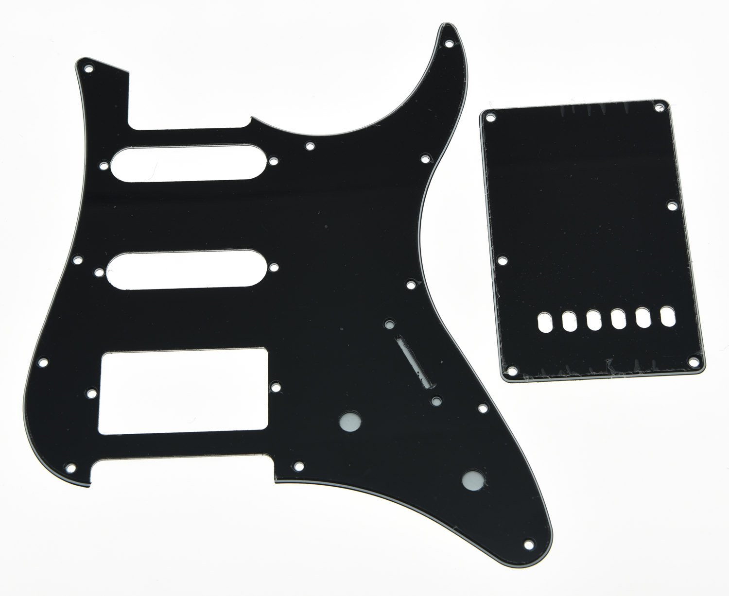 KAISH Black 3 Ply Guitar Pickguard w/ Back Plate and Screws fits Yamaha PACIFICA