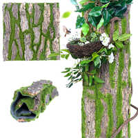 100x50cm Dropship Real Dried Pine Tree Bark with Artificial Moss for Water Pipe Pillar Wrap Tree Fake Flower Home Decoration