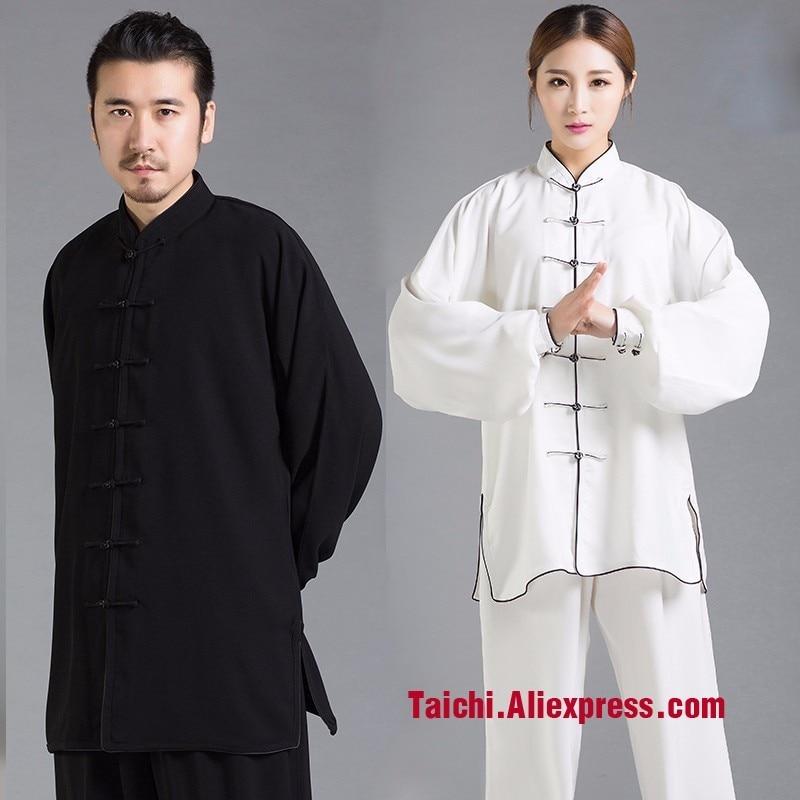 Long Sleeve Taiji Clothing Kung Fu Uniform Martial Arts Man Woman Tai Chi Suits 14 Colors man kung mk 150 a1tcr
