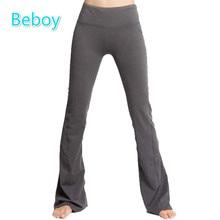 Beboy New High Quality Loose Yoga Pants Women Full Length High Elastic Gym Sport Leggings Bellbottoms Seamless Fitness Leggings