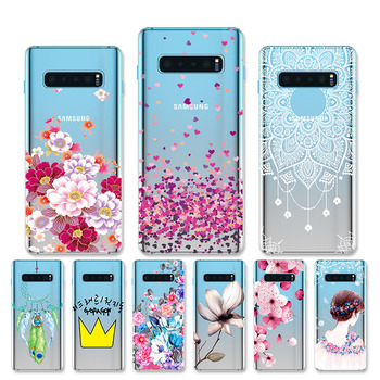 For Samsung Galaxy S10 Plus Case Silicone TPU Soft Phone Case For Samsung S10 Plus Galaxy S10 S 10 S10e Case Capa Bumper Shell shockproof tpu hard pc case for samsung galaxy s10 plus s10e s10 5g s10plus cases dual hybrid back cover with bracket capa