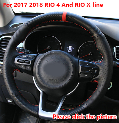 AOSRRUN Car accessories Leather Hand stitched Car Steering