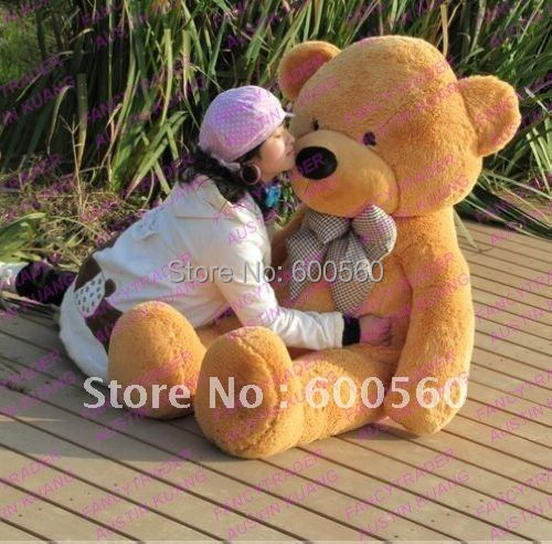 Fancytrader 4 Colors Available 63'' Giant Stuffed Teddy Bear Free Shipping Hot Christmas Gift Huge JUMBO FT90059 fancytrader 63 160cm pink color giant stuffed teddy bear plush bear free shipping ft90059