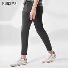 Markless Прямые повседневные штаны мужские Весна средняя талия брюки мужские повседневные брюки CLA9817M