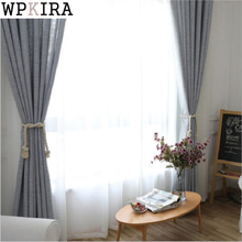 Gray Faux Cotton Linen Curtain Window Curtains For Living Room Luxury Pastoral Kitchen Roman Curtains S048&30