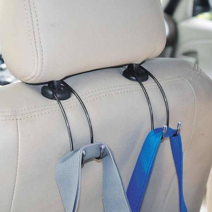 Samochód uniwersalny samochód haki ze stali nierdzewnej na ubrania torebki torby na zakupy zagłówek samochodu krzesło Seat powrót z tyłu uchwytu do przechowywania Wh
