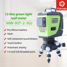 3D Green Laser Level 12 Lines Laser Level Self-Leveling 360Degree Horizontal Vertical Cross Super Powerful Green Laser Beam Line ootdty 3 line 3 dots 360degree self leveling cross laser level red level laser level tools