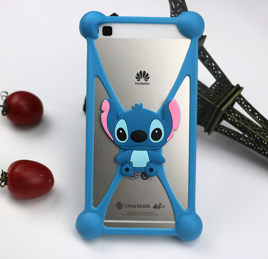 HOT 3D Silicon Cartoon Minnie Minions Stitch Bear Doraemon Soft Phone Back Skin Cover Case For