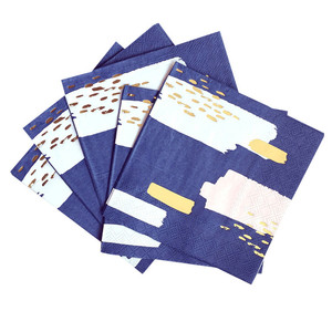 Image 4 - משלוח חינם 8 סטי חיל הים כחול שולחן חד פעמי רדיד זהב נייר צלחות כוסות מפיות עבור תינוק מקלחת יום הולדת ספקי צד