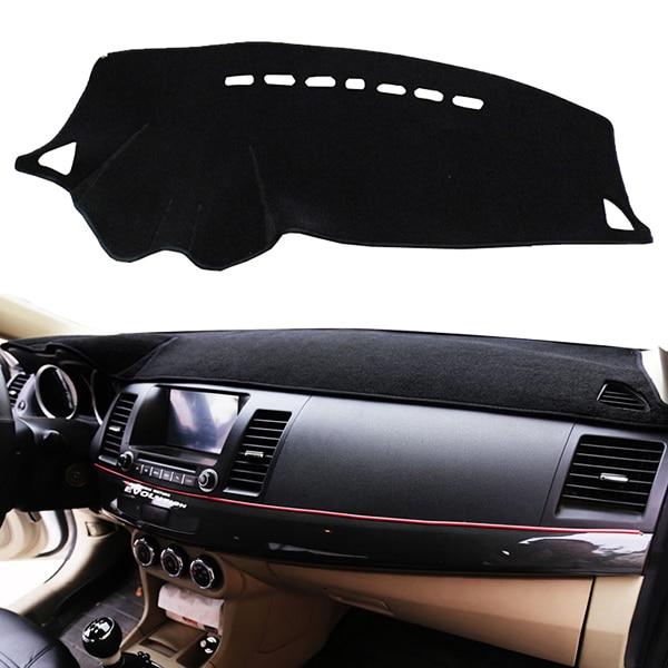 Prix pour Xukey Dashboard Couverture Dashmat Dash Mat Pad Pare-Soleil Tableau de Bord couverture Fit Pour 2008-2013 2014 2015 2016 2017 Mitsubishi Lancer EX