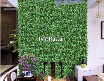 "98""/pcs Artificial Silk Simulation Climbing Vines Green Leaf Ivy Rattan for Home Decor Bar Restaurant Decoration"