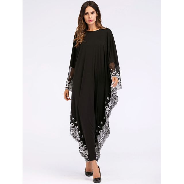 UAE Kaftan Abaya Dubai Indonesia Robe Arab Women Long Embroidery Muslim Hijab Dress Turkish Islamic Dress 3
