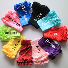 1-5Y girl ruffle shorts summer 2 ruffled shorties wholesale boutique shorts baby girl short leggings baby girl shorts
