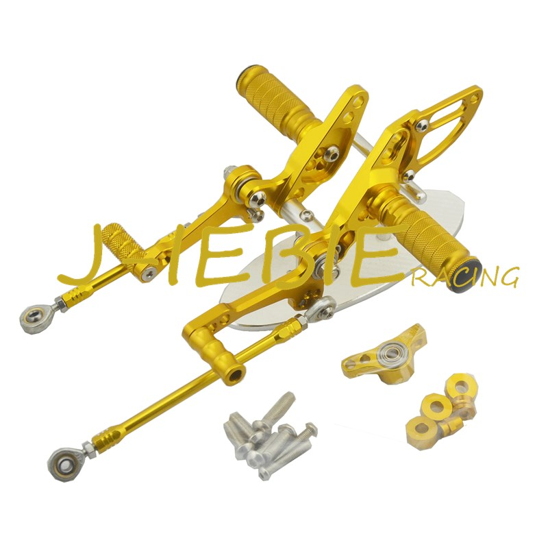 CNC Racing Rearset Adjustable Rear Sets Foot pegs Fit For  Ducati Streetfighter 848 1098 GOLD titanium cnc aluminum racing adjustable rearset foot pegs rear sets for yamaha mt 07 fz 07 mt07 fz07 2013 2014 2015 2016