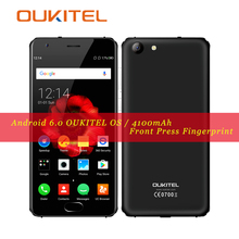 OUKITEL K4000 Plus Smartphone MT6737 1.3GHz Quad Core 16G ROM 2G RAM Android 6.0 Mobile Phones 8MP 4100mAh Privacy System 5.0″HD