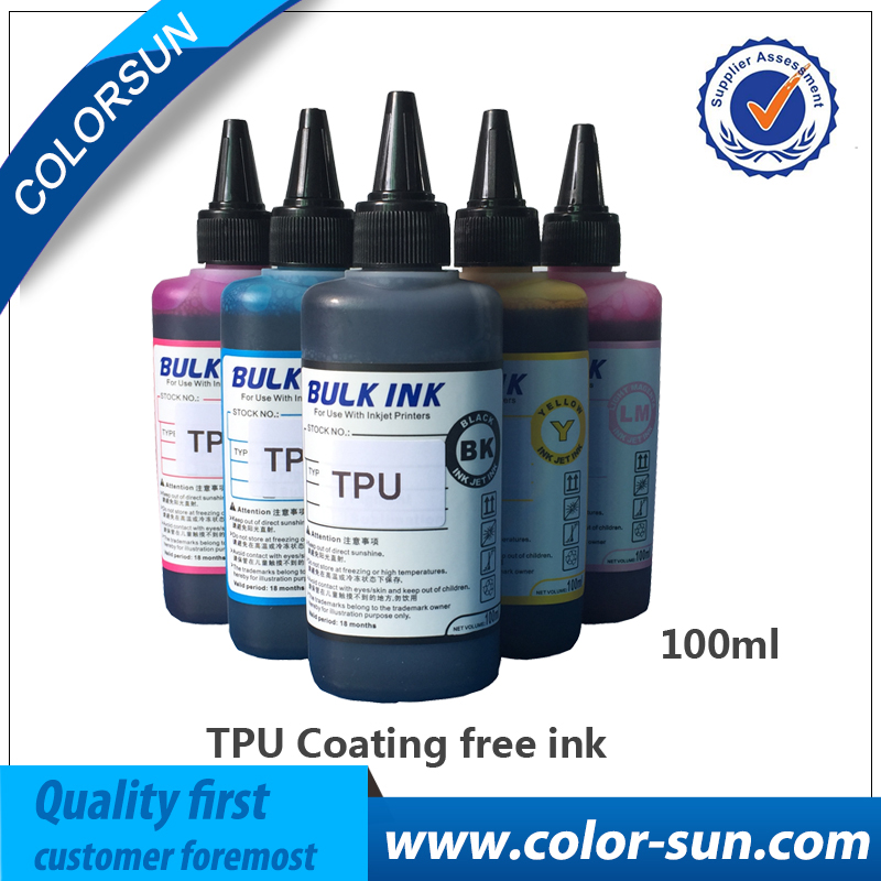New Free-Coating TPU Ink  6 colors(CMYKLCLM) with Cleaning Fluid Use for Flatbed Printer компьютерная акустика edifier r980t black
