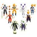 8 шт./компл. Совместное Движимое Dragon Ball Z Сын Гохан Вегета Piccolo Сон Гоку Стволы ПВХ Фигурки куклы игрушки модель Бесплатная Доставка доставка