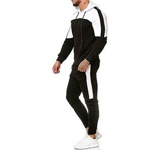 Image 2 - 2018 nuevo casuales hombres camuflaje impresso Patchwork chaqueta hombres chaqueta de piezas 2 chandal ropa deportiva sudaderas