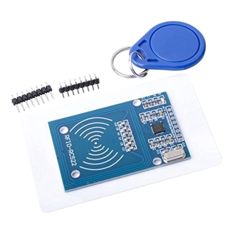 Высокое качество MFRC-522 RC522 RFID NFC считыватель RF IC карты Индуктивный сенсор модуль для Arduino модуль NFC карта+ NFC Брелок - Цвет: A set