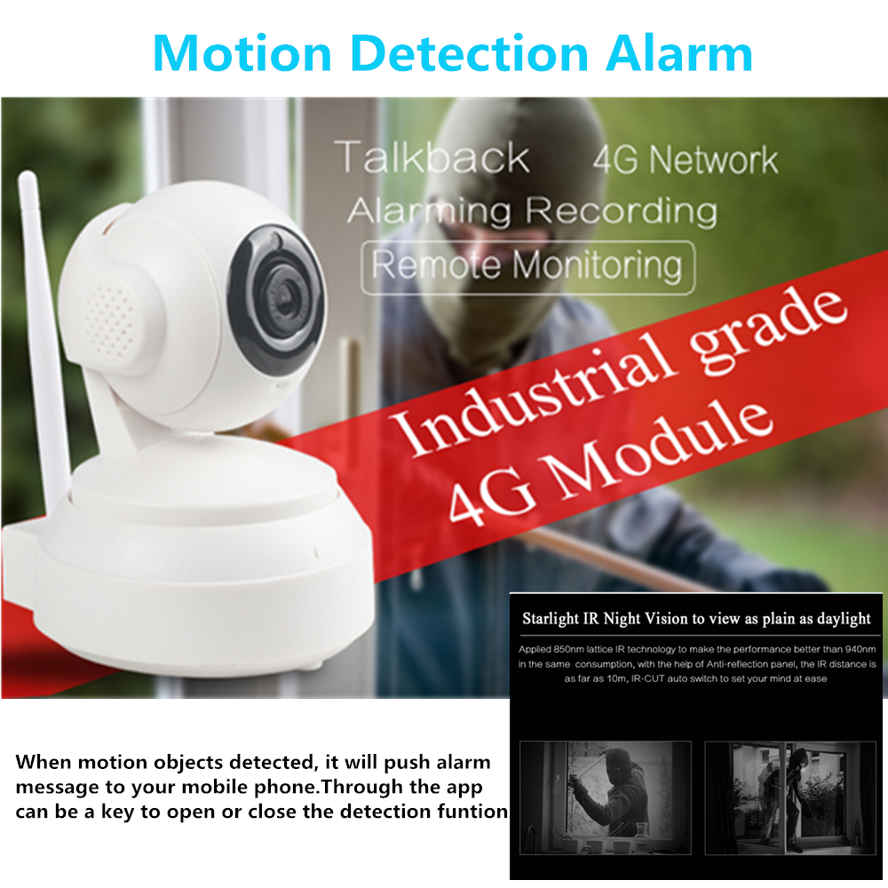 Image 5 - 3G 4G Wireless WiFi Camera 1080P 720P HD SIM Card Mobile Home Security Surveillance IP Camera Night Vision Baby Monitor Onvif-in Surveillance Cameras from Security & Protection